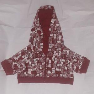 Aeropostale Teddy bear Jacket Hoodie zipper in Red